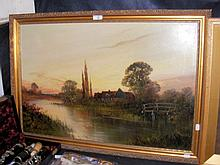 FRANCIS JAMIESON - oil on canvas - River cottage