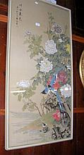 Oriental painting of birds and flowers - bearing