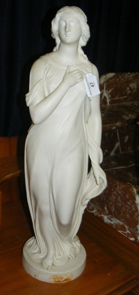 An antique Copeland Parian figure