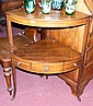 A mahogany corner whatnot with drawer to the apron