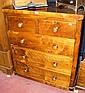 A Victorian mahogany chest of two short and three
