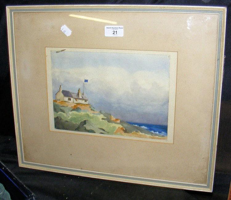 LAURA LAMB - 18cm x 25cm - watercolour of Howth