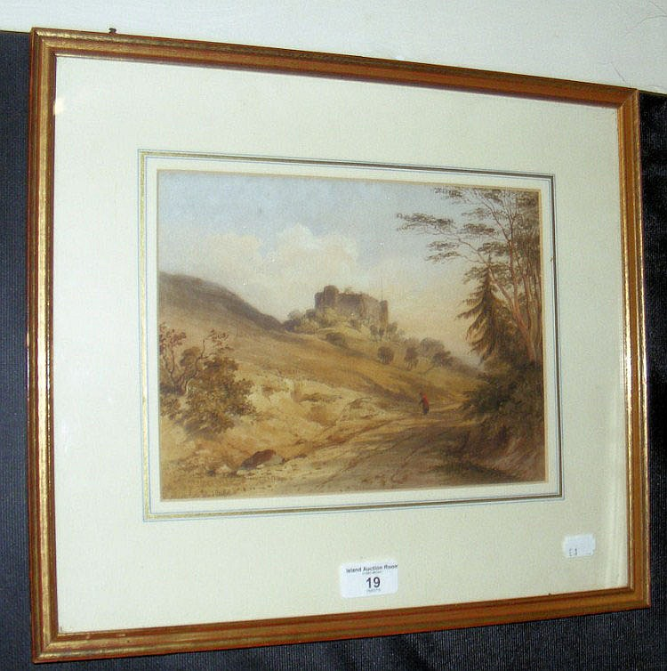 A 19cm x 26cm - 19th century watercolour -