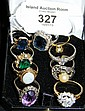 A selection of various dress rings