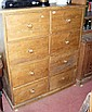 A stripped and waxed pine chest of eight deep