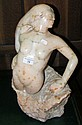 A 50cm high alabaster sculpture of a female nude