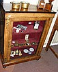 A Victorian walnut pier cabinet with gilt mounts