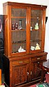 An Edwardian mahogany bookcase with three