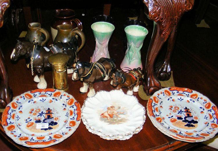 A quantity of ceramic and glassware, including