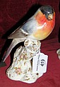 A Royal Worcester Red Brown Breast Bull Finch on
