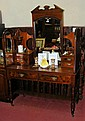 An Edwardian dressing table with triple mirror