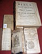 A 1743 Bible and three other early volumes