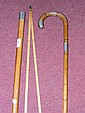 A walking stick containing pace measure, together