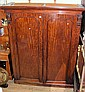 A Victorian mahogany wardrobe with fitted interior