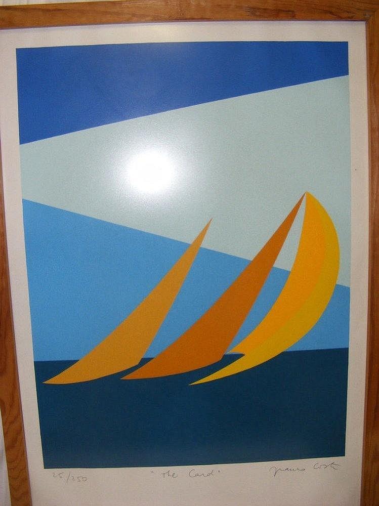 """FRANCO COSTA - 96cm x 66cm coloured lithograph """"Th"""
