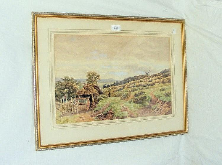CHARLES W RADCLIFFE - 32cm x 48cm - watercolour -
