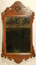 Wallace Nutting Furniture - Chippendale Curly Maple Mirror - Possibly WN