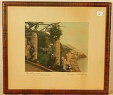 Wallace Nutting - The Pergola, Amalfi - Signed by WN