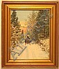 Wallace Nutting - A Snow Road, Wallace Nutting, Click for value