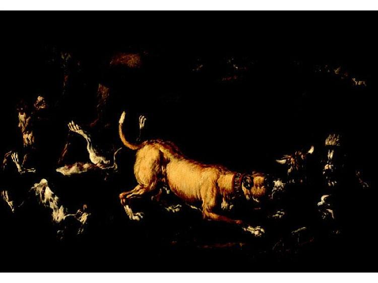 ATTR. GAETANO DE ROSA, ITALIAN (1690-1770) HUNTING