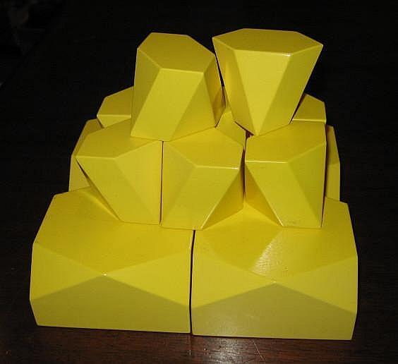 MARCO SPALATIN, AMERICAN (B.1945) Yellow enameled