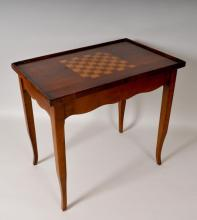 French Style Inlaid Cherry Games Table