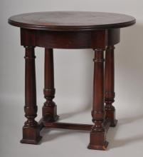 Spanish Colonial Style Table w/ Leather Insert