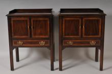 Pr. of Drexel Mahogany Bedside Tables
