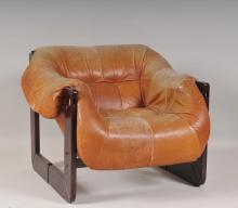 Percival Lafer Leather Lounge Chair