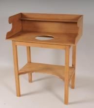 Pine Washstand with Dovetailed Gallery