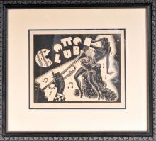 Cotton Club Woodblock Print