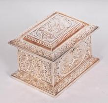 English Silverplate Box