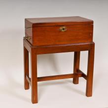 Early 19th C. Mahogany Lap Desk on Stand