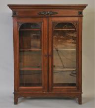 19th Century Walnut Display Cabinet