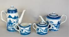 4-Pcs. Mottahedeh Porcelain Coffee & Tea Service