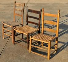 Three Early American Country Chairs