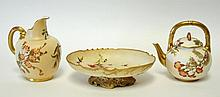 Three Pieces Royal Worcester Porcelain