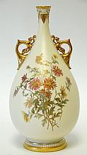 c. 1890 Large Royal Worcester Vase