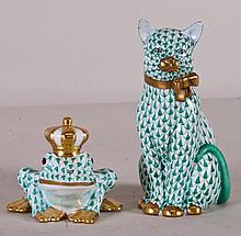 2 Herend Porcelain Figurines
