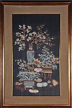 Framed Chinese Silk Kesi Panel