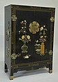 Chinese Black Lacquered Cabinet