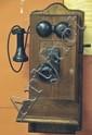 c. 1910 Oak Wall Mount Telephone