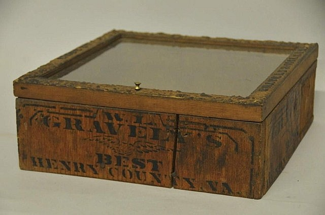Rare Gravely & Miller Tobacco Display Case