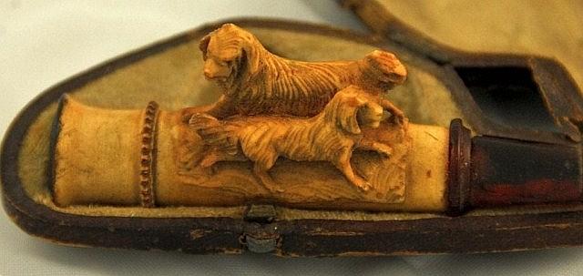 Carved Meerschaum Cigar Holder