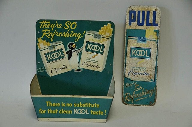 Kool Cigarettes Adv. Door Pull Sign & Display