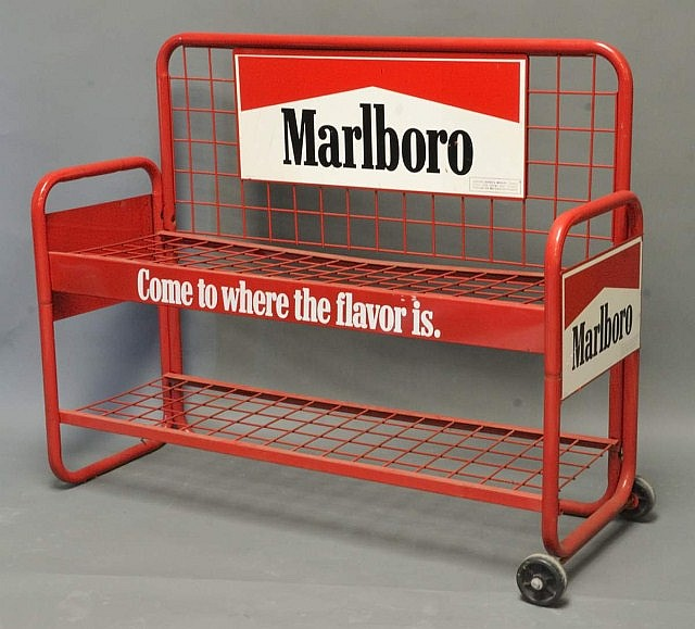 Metal Marlboro Cigarettes Advertising Stand