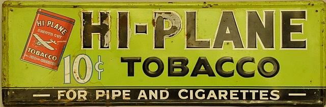 Hi-Plane Tobacco Embossed Tin Sign