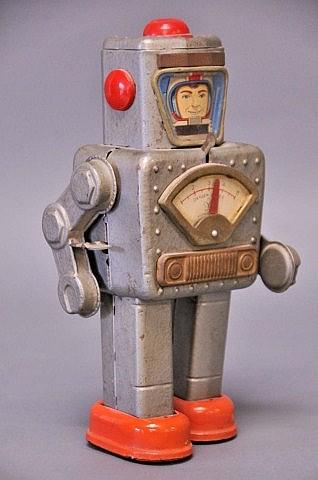 Japanese Tin Astronaut Wind-Up Toy