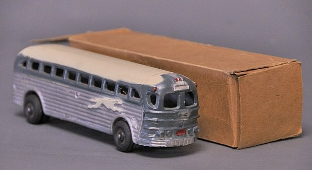 Arcade Greyhound Lines Bus w/ Box