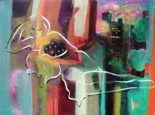 Sabzi, City Nights, Signed Giclee on Canvas